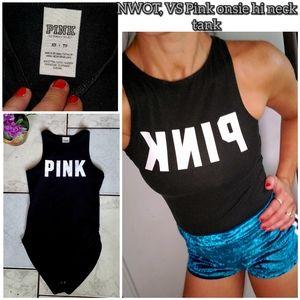 NWOT, VS Pink hi-neck onsie tank top
